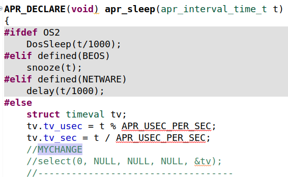 Disabling apr_sleep